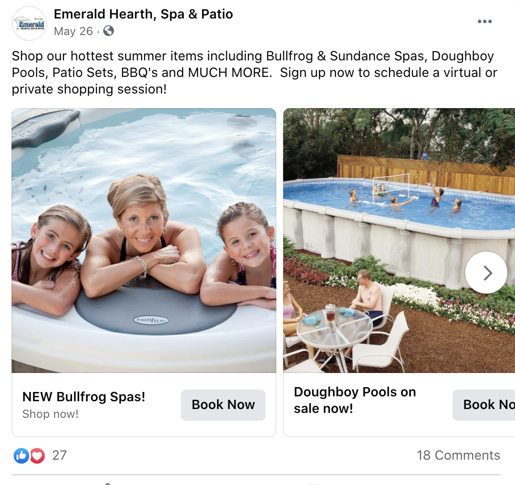 Emerald Pool Facebook Post 2